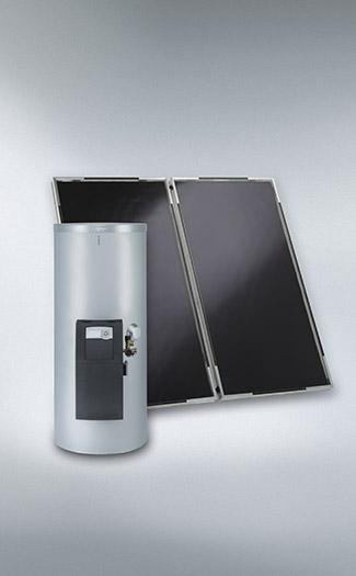 Plochý solárny kolektor Vitosol 200-F a bivalentný zásobník Vitocell 100-W